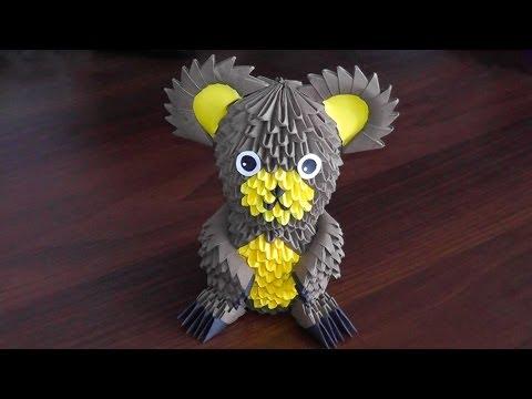 Модульное оригами медведь