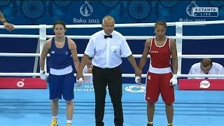 Katie Taylor v Estelle Mossely at Baku Games Final