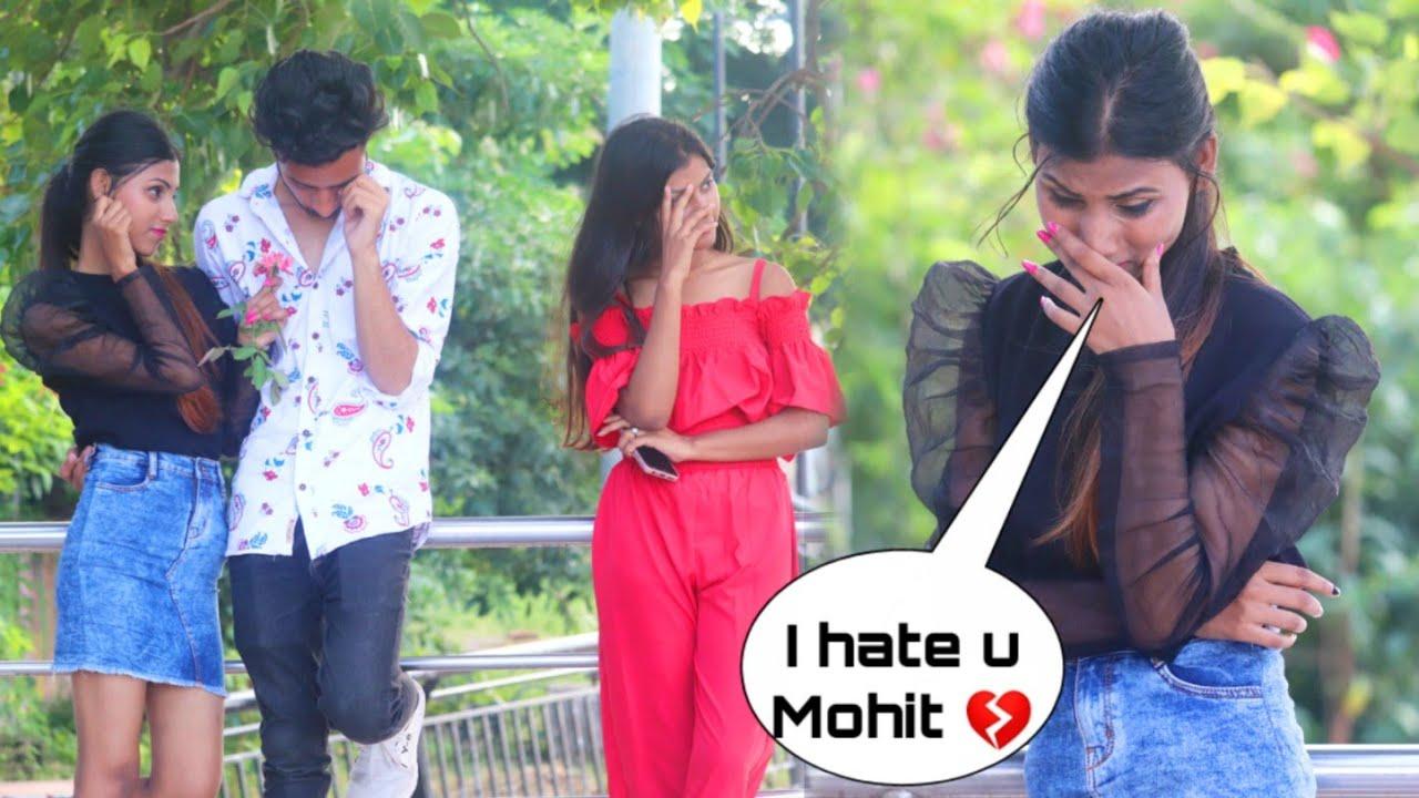 Breakup prank On My Girlfriend ( Ashwini )|| Gone emotional || Mohit roy