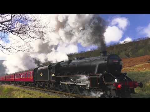 Black 5 No 44806 Farewell Photo Charter on NYMR (Part 2) on passenger stock - 4K UHD