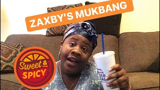 ZAXBY'S MUKBANG SWEET & SPICY WINGS & THINGS