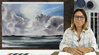 Экспресс-урок по акварельной живописи «Небо. Море»