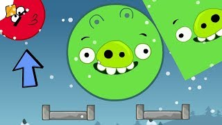 Angry Birds Kick Out Green Pigs - TWO GIANT SQUARE AND ROUND PIGGIES GOT KICKED!