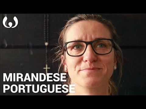 WIKITONGUES: Celena speaking Mirandese and Portuguese