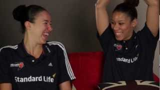 Room mates with Azania Stewart & Lauren Thomas-Johnson - Team GB Basketball