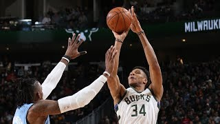 Highlights: Bucks 106 - Timberwolves 104 | 1.1.20