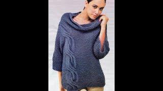 Вязание Спицами - Красивый Джемпер - 2018 / Knitting with Spinning Handsome Sweater