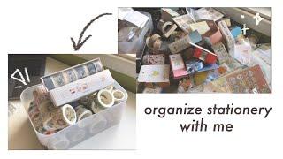 organize stationery with me | softkkie