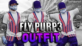 GTA 5 Modded Outfits FLY-PURP3 GTA Online Run and Gun Invisible No Arms Using Clothing Glitches