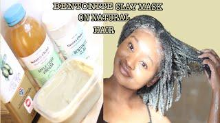 BENTONITE CLAY MASK ON 4C NATURAL HAIR Hair Treatment Tsholo Phoka