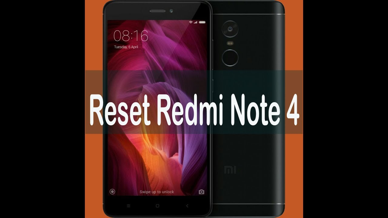 xiaomi redmi note 4 soft reset to factory settings   youtube