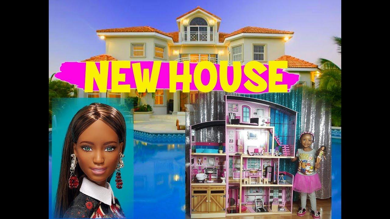 New House Tour Kidkraft Shimmer Mansion Barbie Dollhouse Pt 2