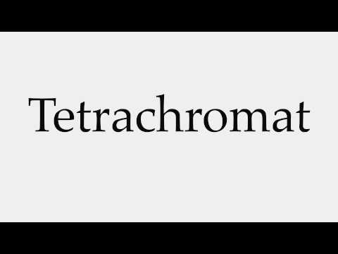 How to Pronounce Tetrachromat