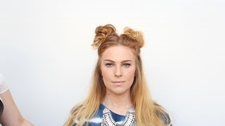 Half-up Space Buns Tutorial