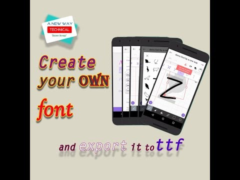 Create Your Own Style's Font With Android |  Font (.ttf) Creation Directly From Android