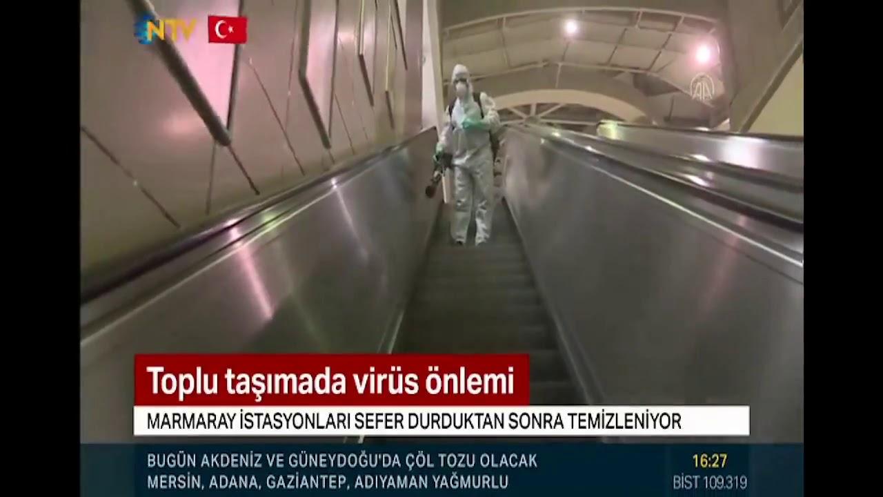 NTV: Marmaray'da Koronavirüs Önlemi #TCDD #Marmaray #corona