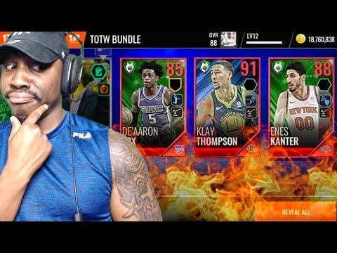 91 OVR KLAY THOMPSON IN TOTW PACK OPENING! NBA Live Mobile 18 Gameplay Ep. 19