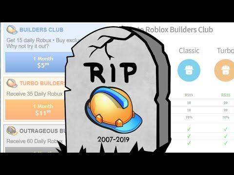 RIP ROBLOX BUILDERS CLUB