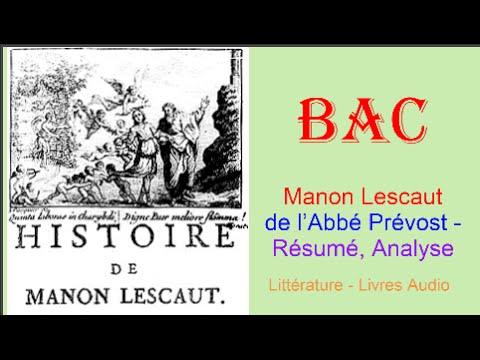 bac manon lescaut de l abbé prévost résumé analyse livre