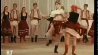 """Молдавские народные танцы. 1955г Из к/ф """"Ляна"""" 6 мин. (два танца)."""