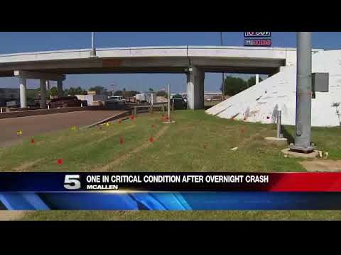 Victim in Critical Condition Following Overnight Crash in McAllen