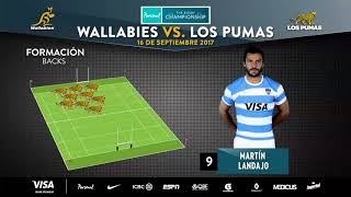 Formación de Los Pumas vs Australia