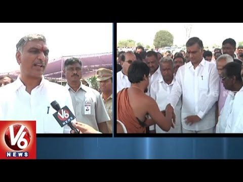 Repeat Minister Harish Rao Inspects Railway Line Works At