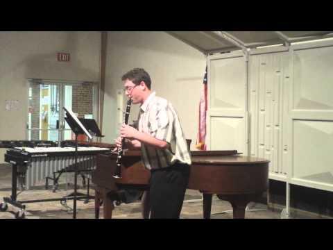 Mathew Goodman plays Telemann Sonata in C Minor on Bb Clarinet