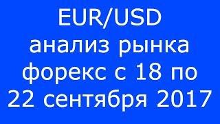 EUR/USD - Еженедельный Анализ Рынка #Форекс c 18 по 22.09.2017. Анализ Форекс.
