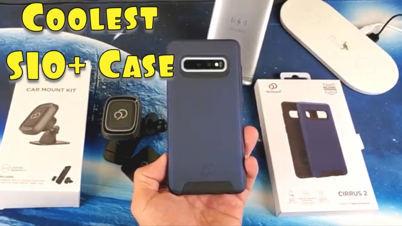 Coolest Galaxy S10 Plus Car Magnet Mount Ready Case with Raised Edges &  Military Standard