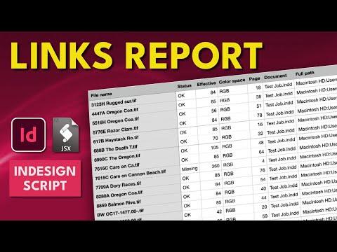 InDesign Script Links Report