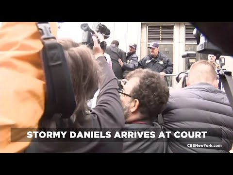 Raw Video: Stormy Daniels, Michael Cohen Arrives At Court