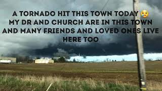 Tornado,  heart attack and photos of damage. 4-14-2019 Shelby Ohio