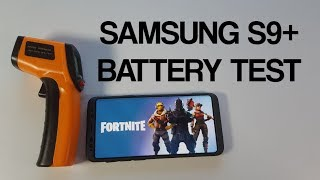 Samsung S9+ Fortnite Gameplay with Battery drain test/Screen on time/SOT/Killer heat test/temps