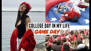 VLOG- A Weekend at College, Game Day, Visiting Wisconsin