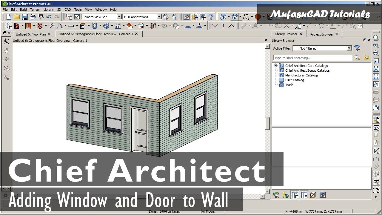Chief Architect Adding Windows And Door Basic Tutorial
