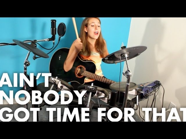 Sweet Brown - Ain't Nobody Got Time for That [Drum + Guitar cover]