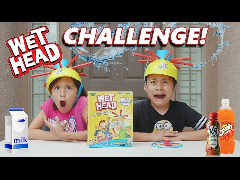 WET HEAD CHALLENGE!!! Extreme Liquid Hat Game in 4K!
