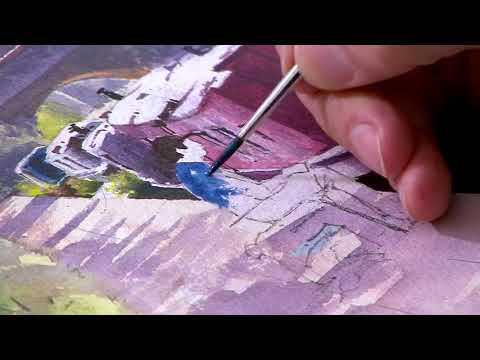 Painting Grand Union Canal – Preview⎮ Geoff Kersey ⎮ Watercolour Landscape
