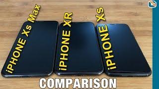 iPhone Xs vs iPhone Xs Max vs iPhone XR Comparison
