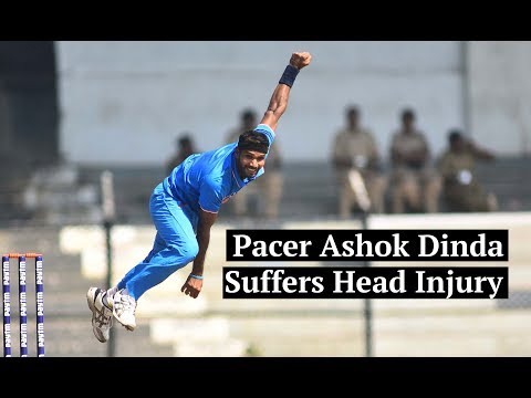 Cricketer Ashok Dinda struck on head