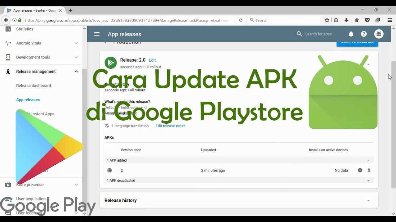 cara update google play
