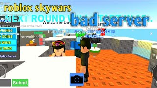 Roblox skywars i thought this server was good but it wasn't