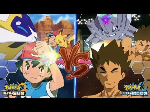 Pokémon Ultra Sun and Ultra Moon: Pokemon Ash Vs Brock (Ash Solgaleo Vs Mega Steelix)