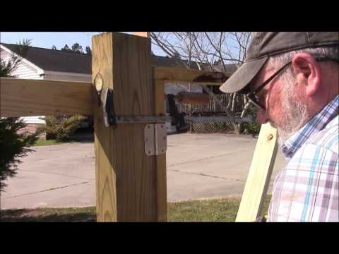 111 Building a 130 foot wooden fence and three gates Part 1 of 2