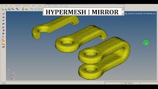 HyperMesh   Reflect   Mirror   Entities   Elements   Nodes   GRS  