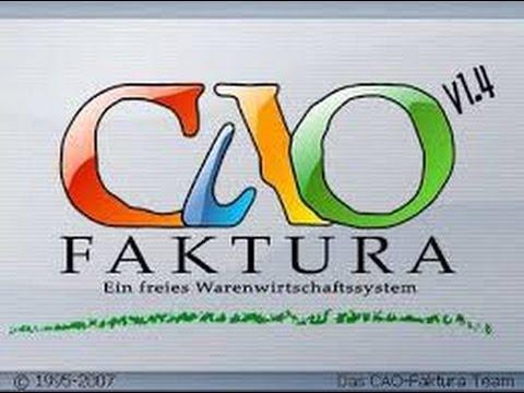 Cao Faktura Warenwirtschaftssystem Mit Kassenprogramm Youtube
