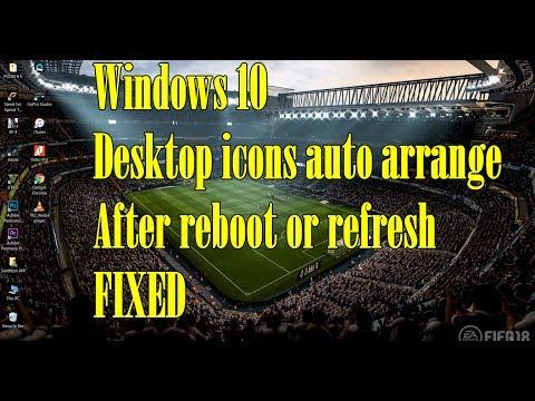 Windows 10 - Desktop icons auto arrange after reboot or