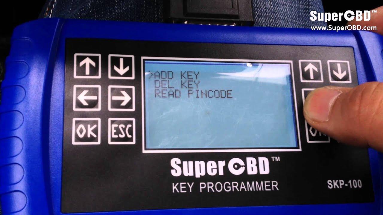 Program a Dodge Smart Key in a minute using SKP-100 key programmer ...