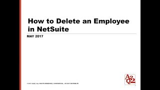 #105 | How to Delete an Employee in NetSuite